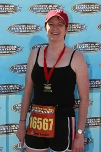 Kathleen at the Country Music Half Marathon, 2009